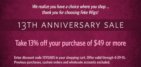 13th Anniversary Sale! 13% off orders of $49+