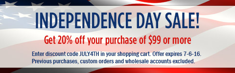 20% off $99 - Happy July 4th!