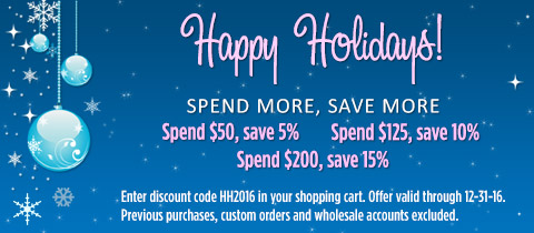 HOLIDAY SALE: Spend more, save more!