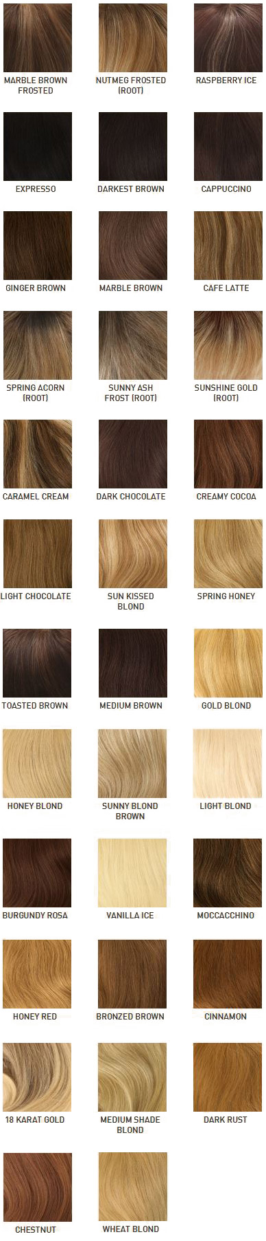 Louis Ferre Hair Color Chart - Synthetic & Human Hair Sample Color