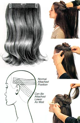 How to put on hair extensions step by step 1 2 3 pmusecretfo Gallery
